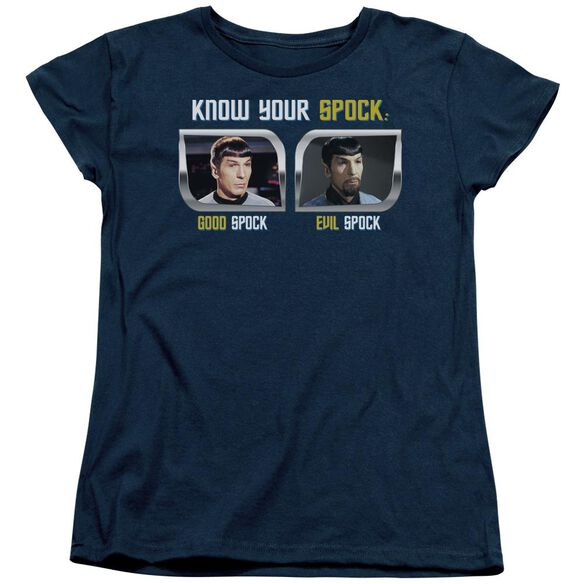St Original Know Your Spock Short Sleeve Womens Tee T-Shirt