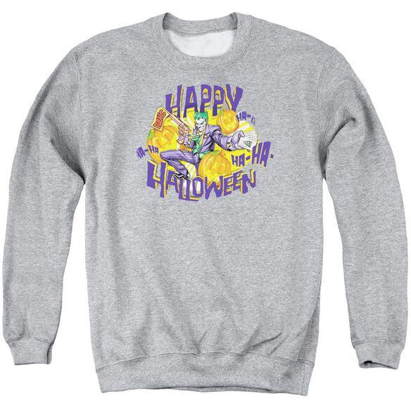Batman Ha Ha Halloween Adult Crewneck Sweatshirt Athletic