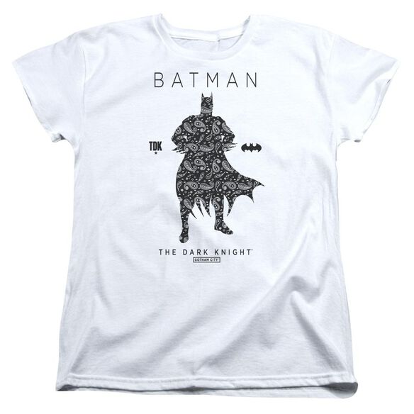 Batman Paislety Silhouette Short Sleeve Womens Tee T-Shirt