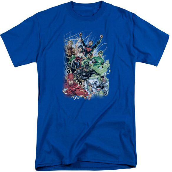 Jla Justice League #1 Short Sleeve Adult Tall Royal T-Shirt