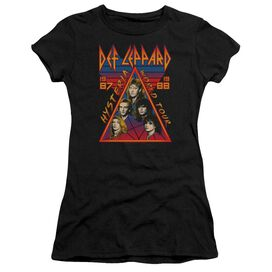 Def Leppard Hysteria Tour Short Sleeve Junior Sheer T-Shirt