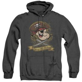 Popeye Shiver Me Timbers - Adult Heather Hoodie - Black