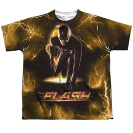 The Flash Bolt Short Sleeve Youth Poly Crew T-Shirt