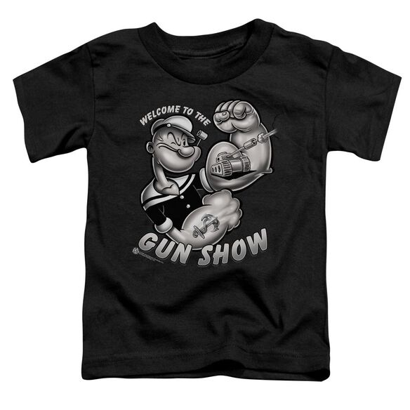 Popeye Gun Show Short Sleeve Toddler Tee Black Sm T-Shirt