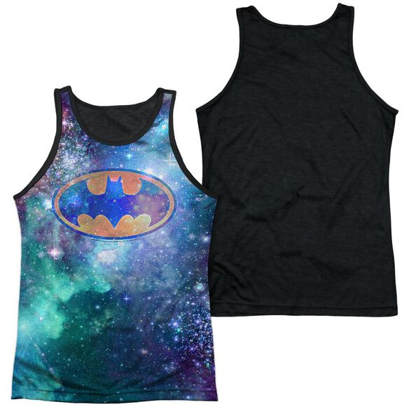 Batman Galaxy Symbol Adult Poly Tank Top Black Back