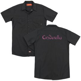Cinderella Logo Rough(Back Print) Adult Work Shirt