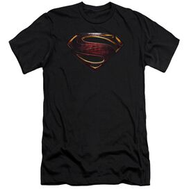 Justice League Movie Superman Logo Short Sleeve Adult T-Shirt