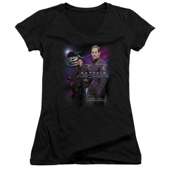 Star Trek Captain Archer Junior V Neck T-Shirt