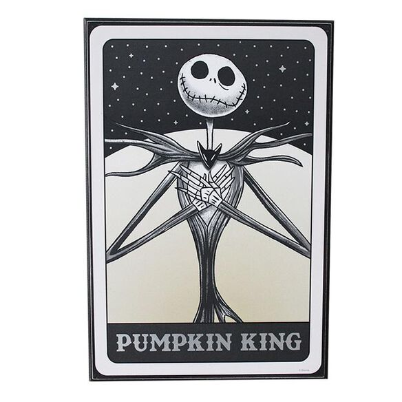 Nightmare Before Christmas - Pumpkin King Silver Foil Wall Art