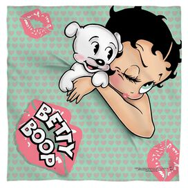 Betty Boop Goodnight Kiss Bandana White