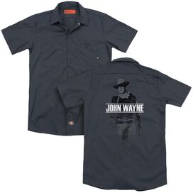 John Wayne Fade Off(Back Print) Adult Work Shirt