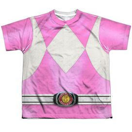 Power Rangers Pink Ranger Short Sleeve Youth Poly Crew T-Shirt