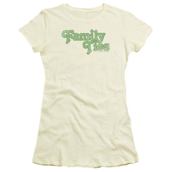 Family Ties Logo Short Sleeve Junior Sheer T-Shirt