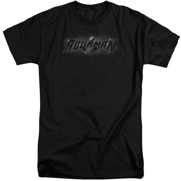Jla Aquaman Title Short Sleeve Adult Tall T-Shirt