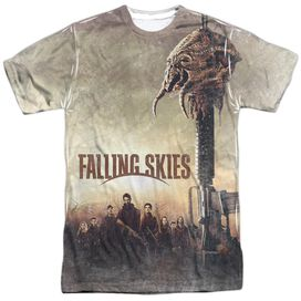 Falling Skies Skitter Head Short Sleeve Adult Poly Crew T-Shirt
