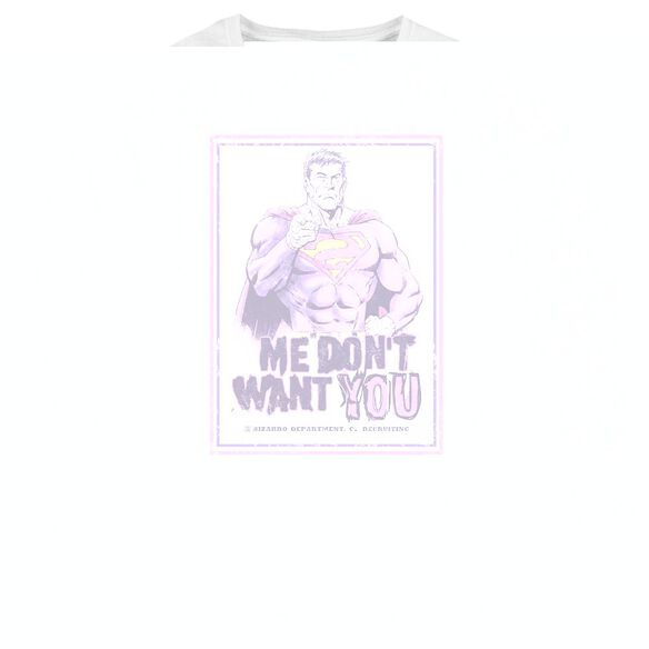 Superman Dont Want You - Womens Long Sleeve Tee - White