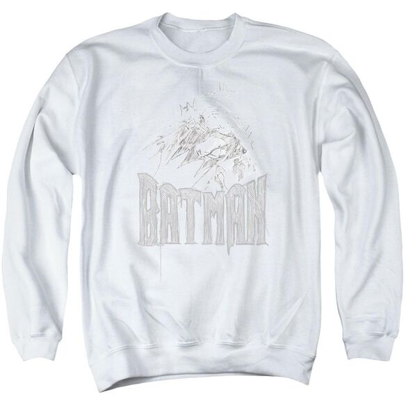 Batman Knight Sketch Adult Crewneck Sweatshirt