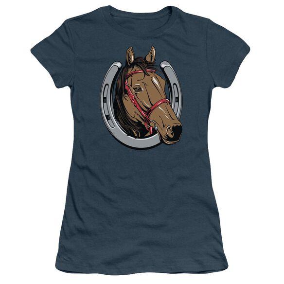Lucky Horse Short Sleeve Junior Sheer T-Shirt