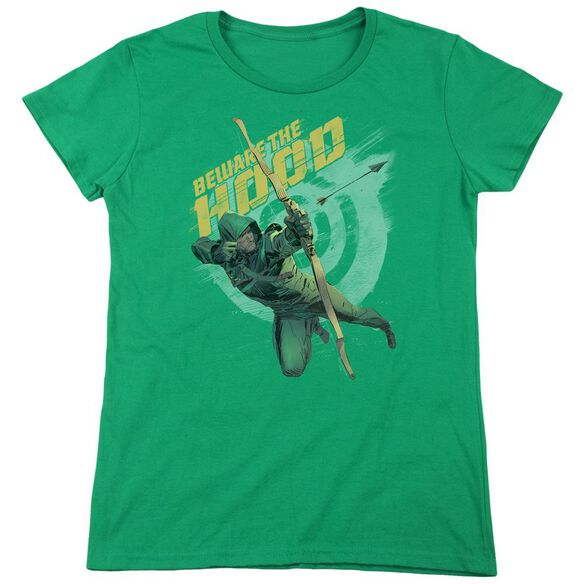 Arrow Beware Short Sleeve Womens Tee Kelly T-Shirt