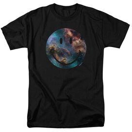 Smiley World Galaxy Face Short Sleeve Adult T-Shirt