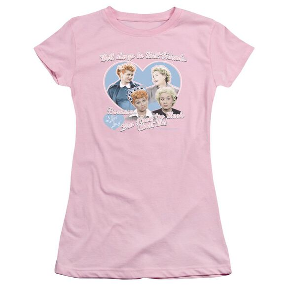 I Love Lucy Always Best Friends Short Sleeve Junior Sheer T-Shirt