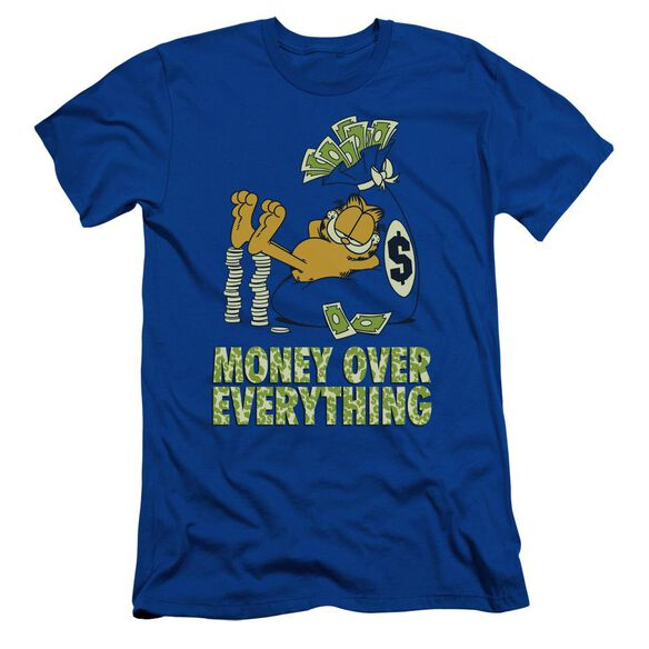GARFIELD MONEY IS EVERYTHING - S/S ADULT 30/1 - ROYAL BLUE T-Shirt