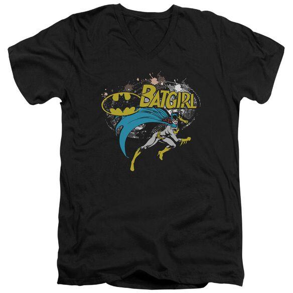 Batman Batgirl Halftone Short Sleeve Adult V Neck T-Shirt