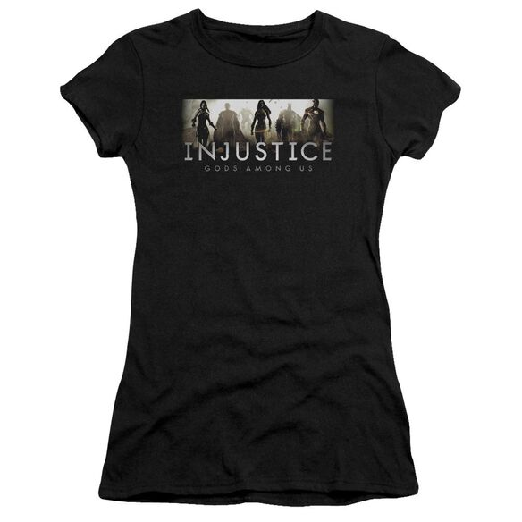 Injustice Gods Among Us Logo Premium Bella Junior Sheer Jersey