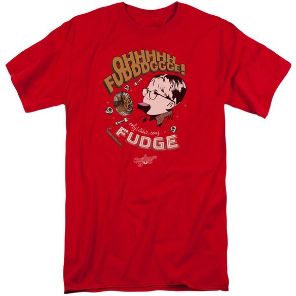A Christmas Story Fudge Short Sleeve Adult Tall T-Shirt