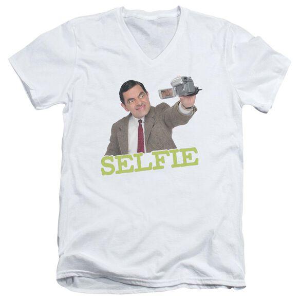 Mr Bean Selfie Short Sleeve Adult V Neck T-Shirt