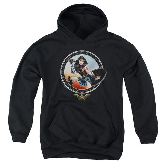 Wonder Woman Movie Battle Pose Youth Pull Over Hoodie