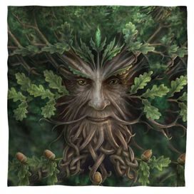 Anne Stokes Oak King Bandana White
