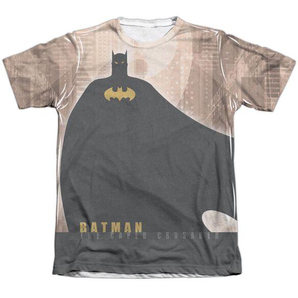 Batman City Crusader Adult Poly Cotton Short Sleeve Tee T-Shirt