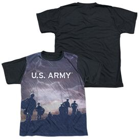 Army Up Hill Short Sleeve Youth Front Black Back T-Shirt