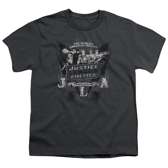 Dc Greatest Heroes Short Sleeve Youth T-Shirt