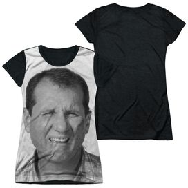 Married With Children Al Bundy Short Sleeve Junior Poly Black Back T-Shirt