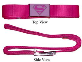 Supergirl Pink Mesh Belt