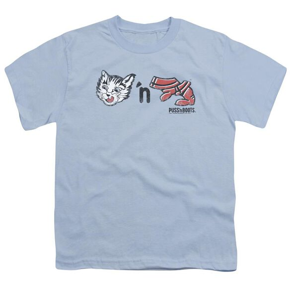 Puss N Boots Rebus Logo Short Sleeve Youth Light T-Shirt