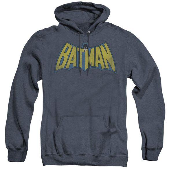 Dc Classic Batman Logo - Adult Heather Hoodie - Navy