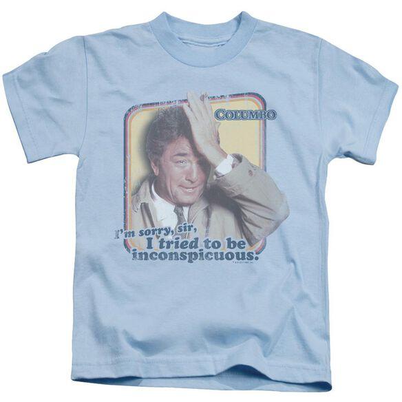 Columbo Inconspicuous Short Sleeve Juvenile Light Blue Light Blue T-Shirt