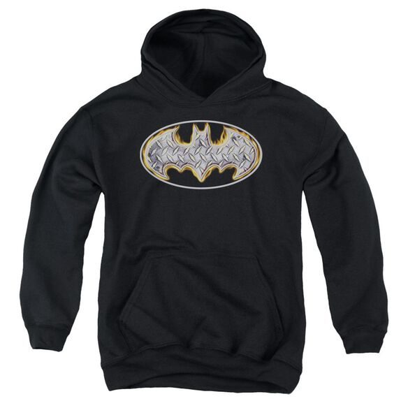 Batman Steel Fire Shield Youth Pull Over Hoodie