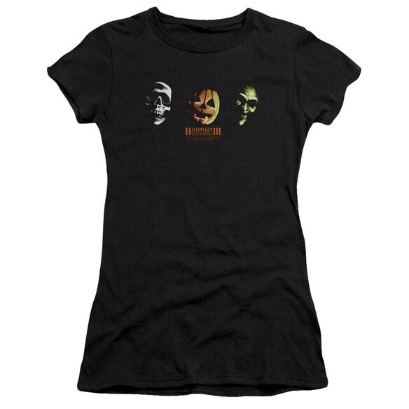 Halloween Iii Three Masks Premium Bella Junior Sheer Jersey
