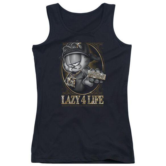 Garfield Lazy 4 Life Juniors Tank Top