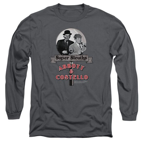 Abbott & Costello Super Sleuths Long Sleeve Adult T-Shirt
