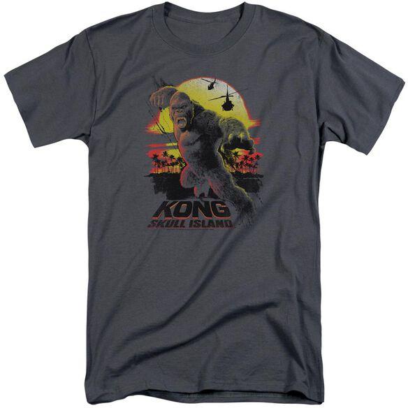 Kong Skull Island Kong Sunset Short Sleeve Adult Tall T-Shirt