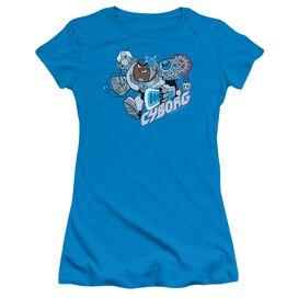 Teen Titans Go Cyborg Short Sleeve Junior Sheer T-Shirt