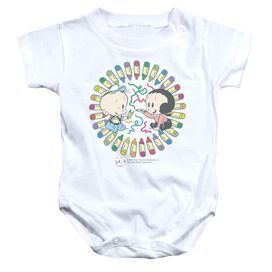 Popeye Fun With Crayons Infant Snapsuit White Sm