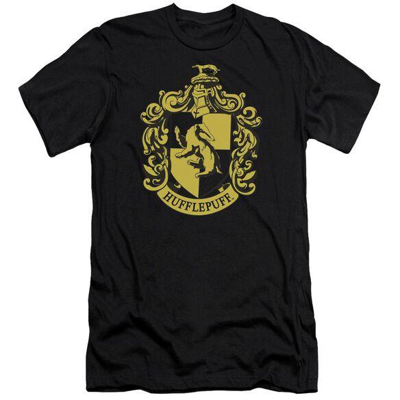 Harry Potter Hufflepuff Crest Hbo Short Sleeve Adult T-Shirt