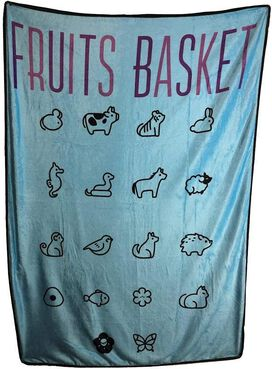 Fruits Basket Symbols Plush Throw Blanket