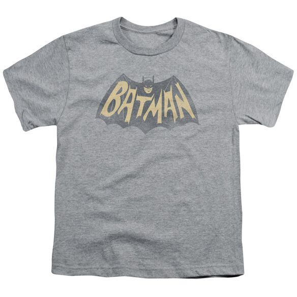 BATMAN CLASSIC TV SHOW LOGO - S/S YOUTH 18/1 - ATHLETIC HEATHER T-Shirt